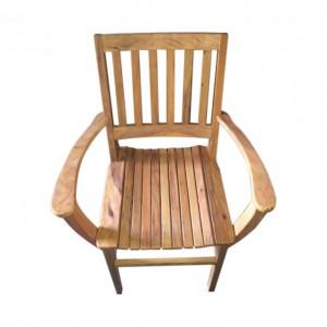 Cadeira De Madeira Com Braço