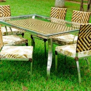 Conjunto De Mesa Com 6 Cadeiras Obilongo