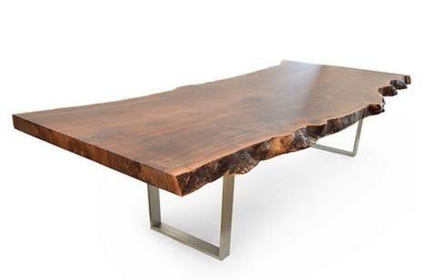 Mesa de tronco org nica com p s de ferro martinez demoli es for Mesa de tronco